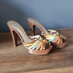 BCBGirls Brown Platform Heels